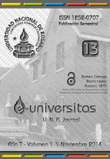 ©© |  Foto portada | Batten Cottage. Barrio Inglés. Rosario 1890. Archivo CDV (Centro de Documentación Visual) Facultad de Arquitectura, Planeamiento y Diseño